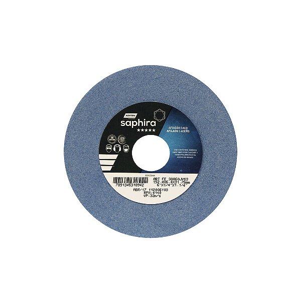 Caixa com 3 Rebolo Saphira Ferramentaria Premium Óxido de Alumínio Cerâmico Reto 152,40 x 6,40 x 31,75 mm 38A60JVS3