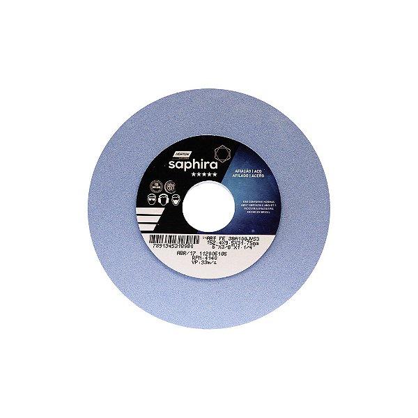 Caixa com 3 Rebolo Saphira Ferramentaria Premium Óxido de Alumínio Cerâmico Reto 152,40 x 9,50 x 31,75 mm 38A100JVS3