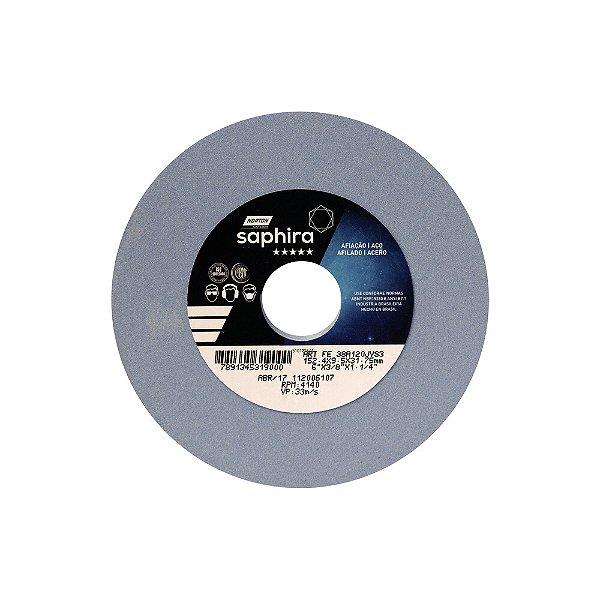 Caixa com 3 Rebolo Saphira Ferramentaria Premium Óxido de Alumínio Cerâmico Reto 152,40 x 9,50 x 31,75 mm 38A120JVS3