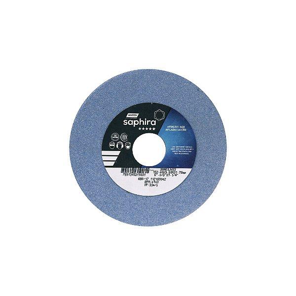 Caixa com 3 Rebolo Saphira Ferramentaria Premium Óxido de Alumínio Cerâmico Reto 152,40 x 9,50 x 31,75 mm 38A60JVS3