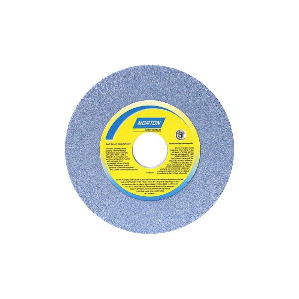 Rebolo Saphira Ferramentaria Premium Óxido de Alumínio Cerâmico Reto 152,40 x 9,50 x 31,75 mm 38A80JVS3 Caixa com 3