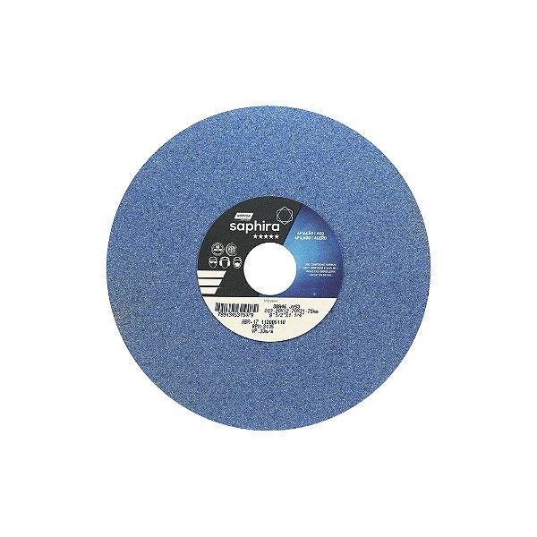 Caixa com 3 Rebolo Saphira Ferramentaria Premium Óxido de Alumínio Cerâmico Reto 203,20 x 12,70 x 31,75 mm 38A46JVS3