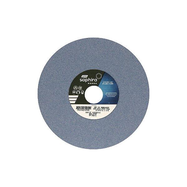 Caixa com 3 Rebolo Saphira Ferramentaria Premium Óxido de Alumínio Cerâmico Reto 203,20 x 12,70 x 31,75 mm 38A60JVS3