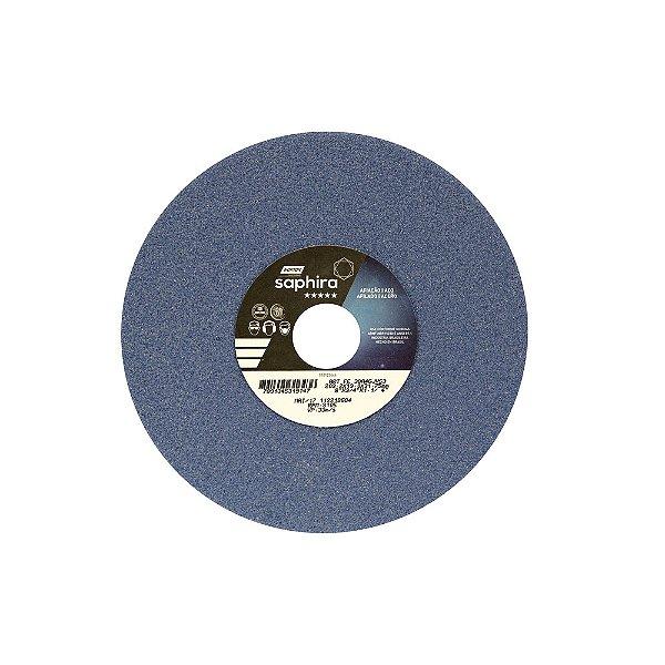 Caixa com 3 Rebolo Saphira Ferramentaria Premium Óxido de Alumínio Cerâmico Reto 203,20 x 19 x 31,75 mm 38A46JVS3