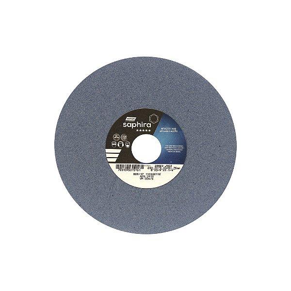 Caixa com 3 Rebolo Saphira Ferramentaria Premium Óxido de Alumínio Cerâmico Reto 203,20 x 19 x 31,75 mm 38A60JVS3