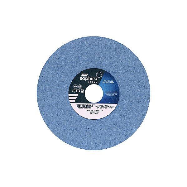 Rebolo Saphira Ferramentaria Premium Óxido de Alumínio Cerâmico Reto 203,20 x 19 x 31,75 mm 38A80JVS3 Caixa com 3