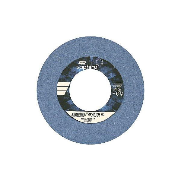 Caixa com 3 Rebolo Saphira Ferramentaria Premium Óxido de Alumínio Cerâmico Reto 203,20 x 19 x 76,20 mm 38A60JVS3