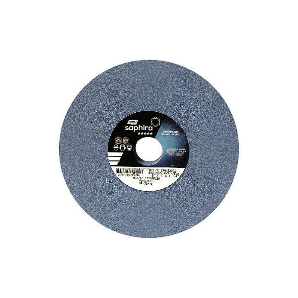Caixa com 3 Rebolo Saphira Ferramentaria Premium Óxido de Alumínio Cerâmico Reto 203,20 x 25,40 x 31,75 mm 38A46JVS3