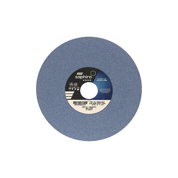 Caixa com 3 Rebolo Saphira Ferramentaria Premium Óxido de Alumínio Cerâmico Reto 203,20 x 25,40 x 31,75 mm 38A60JVS3