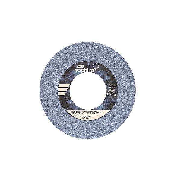 Rebolo Saphira Ferramentaria Premium Óxido de Alumínio Cerâmico Reto 203,20 x 25,40 x 76,20 mm 38A60JVS3 Caixa com 3