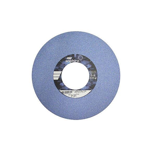 Rebolo Saphira Ferramentaria Premium Óxido de Alumínio Cerâmico Reto 254 x 25,4 x 76,2 mm 5NQ46-JVS3 Caixa com 1