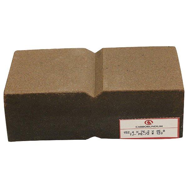 Caixa com 12 Rebolo Tijolo Manual Óxido de Alumínio Marmoraristas e Graniteiros 152,4 x 76,2 x 50,80 mm TJ PE-72 Grão 120