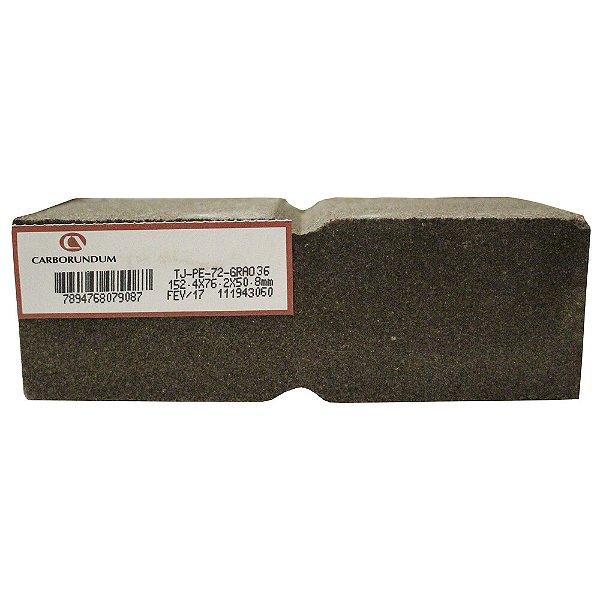 Caixa com 12 Rebolo Tijolo Manual Óxido de Alumínio Marmoraristas e Graniteiros 152,4 x 76,2 x 50,80 mm TJ PE-72 Grão 36