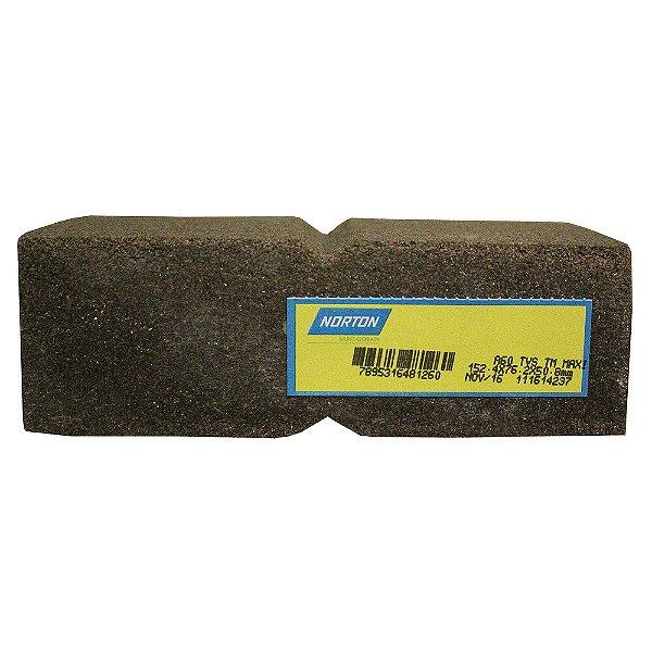 Rebolo Tijolo Manual Óxido de Alumínio Marmoraristas e Graniteiros 152,4 x 76,2 x 50,80 mm TM MAxi Grão 60 Caixa com 12