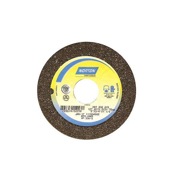 Rebolo Uso Geral Desbaste de Metal Óxido de Alumínio Marrom Reto 127 x 19 x 31,75 mm A36QVS Caixa com 3