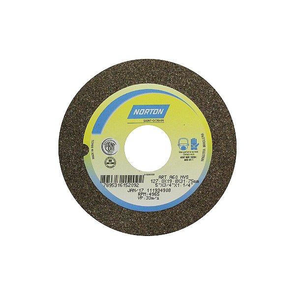 Caixa com 3 Rebolo Uso Geral Desbaste de Metal Óxido de Alumínio Marrom Reto 127 x 19 x 31,75 mm A60NVS