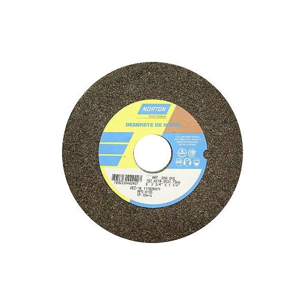 Caixa com 3 Rebolo Uso Geral Desbaste de Metal Óxido de Alumínio Marrom Reto 152,4 x 19,0 x 31,75 mm ART A24 QVS