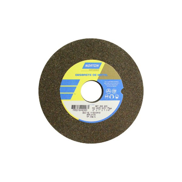 Caixa com 3 Rebolo Uso Geral Desbaste de Metal Óxido de Alumínio Marrom Reto 152,4 x 25,4 x 31,75 mm ART A36 QVS