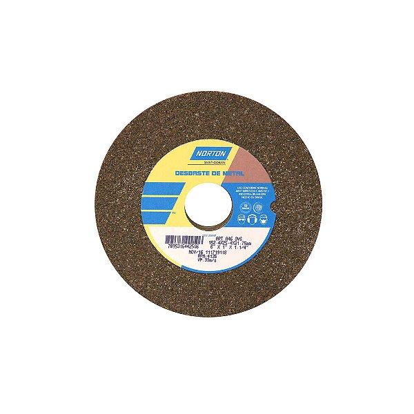 Caixa com 3 Rebolo Uso Geral Desbaste de Metal Óxido de Alumínio Marrom Reto 152,4 x 25,4 x 31,75 mm ART A46 OVS