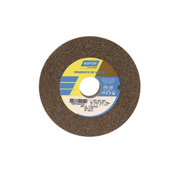 Caixa com 3 Rebolo Uso Geral Desbaste de Metal Óxido de Alumínio Marrom Reto 152,4 x 25,4 x 31,75 mm ART A60 NVS