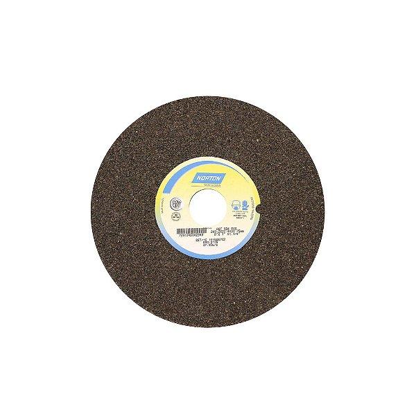 Caixa com 3 Rebolo Uso Geral Desbaste de Metal Óxido de Alumínio Marrom Reto 203,20 x 25,40 x 31,75 mm A24RVS