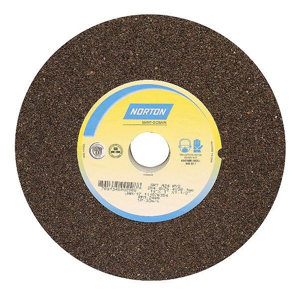 Caixa com 1 Rebolo Uso Geral Desbaste de Metal Óxido de Alumínio Marrom Reto 254 x 25,40 x 38,10 mm A24RVS