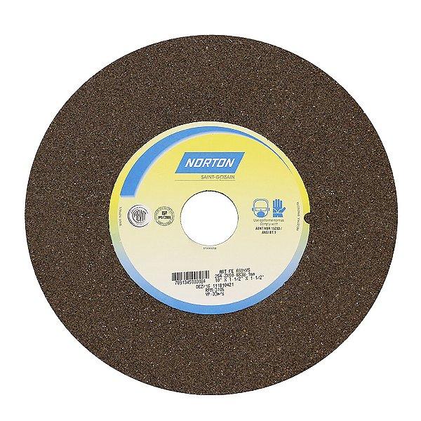Caixa com 1 Rebolo Uso Geral Desbaste de Metal Óxido de Alumínio Marrom Reto 254 x 50,80 x 38,10 mm A60NVS