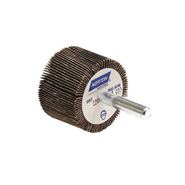 Caixa com 10 Roda de Lixa Flap PG Mini Kontour MK com Haste R369 Grão 120 38 x 25 mm