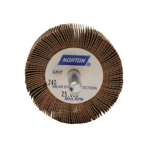 Caixa com 10 Roda de Lixa Flap PG Mini Kontour MK com Haste R369 Grão 240 50 x 25 mm