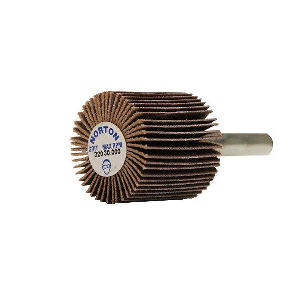 Caixa com 10 Roda de Lixa Flap PG Mini Kontour MK com Haste R369 Grão 320 25 x 25 mm