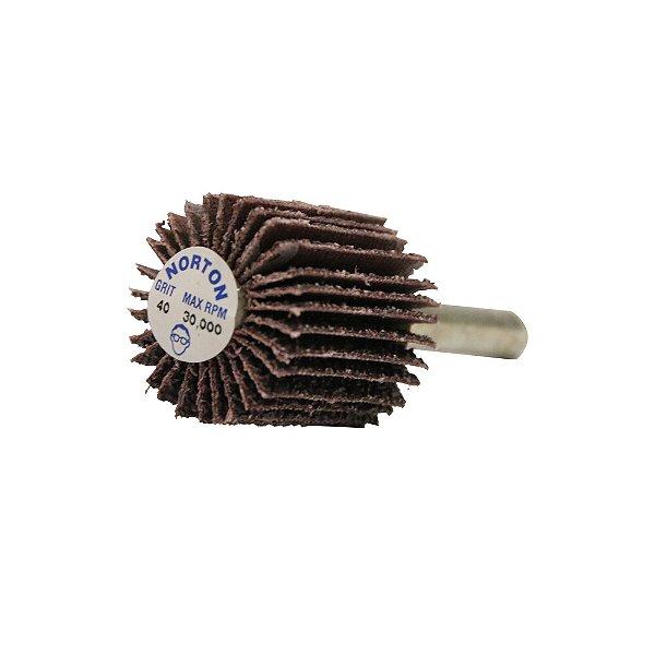 Caixa com 10 Roda de Lixa Flap PG Mini Kontour MK com Haste R369 Grão 40 25 x 25 mm