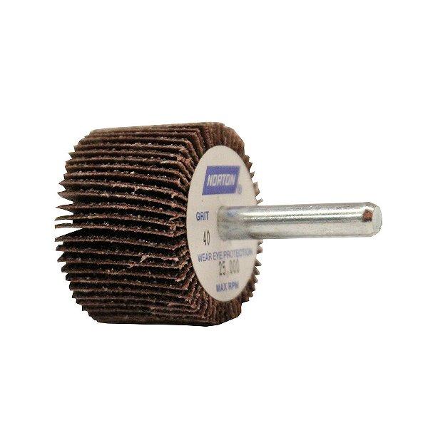 Caixa com 10 Roda de Lixa Flap PG Mini Kontour MK com Haste R369 Grão 40 38 x 25 mm