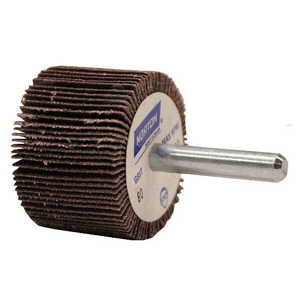 Caixa com 10 Roda de Lixa Flap PG Mini Kontour MK com Haste R369 Grão 80 38 x 25 mm