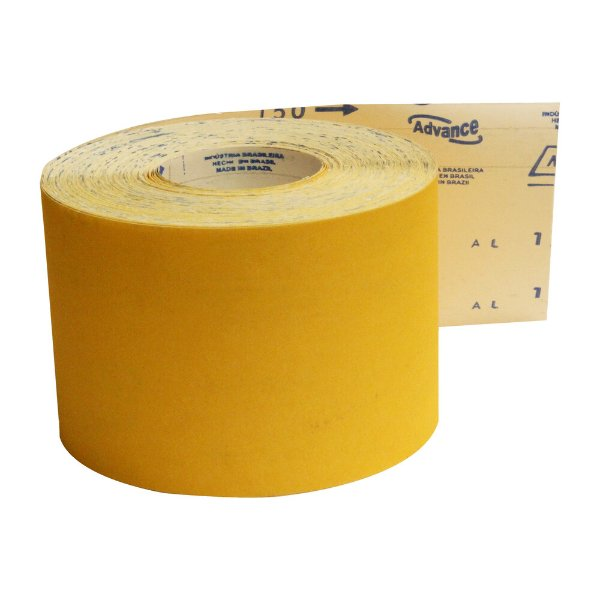 Pacote com 1 Rolo de Lixa Adalox Papel G125 Grão 150 Rolo 120 x 45 m