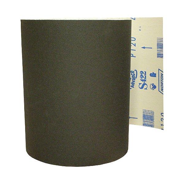 Pacote com 1 Rolo de Lixa Durite Assoalho S422 Grão 120 610 x 45 m
