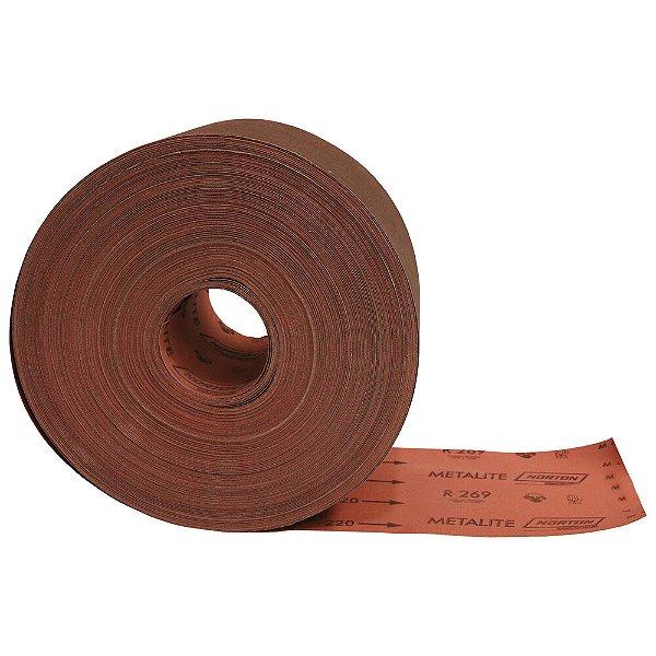 Rolo de Lixa Metalite R269 Grão 220 150 x 100 m Pacote com 1