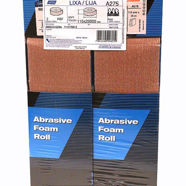 Pacote com 2 Rolo Soft Touch A275 Grão 320 115 x 25 m