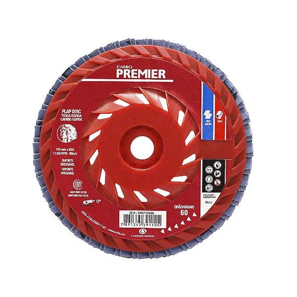 Disco Flap Troca Rápida Grão 80 115 x 22 mm Caixa com 10