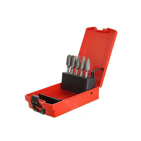 Kit de Lima Rotativa 5 Pçs Carborundum Caixa com 1