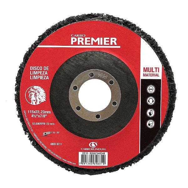 Disco de Limpeza Premier Multimaterial - 115 x 22 mm Caixa com 5