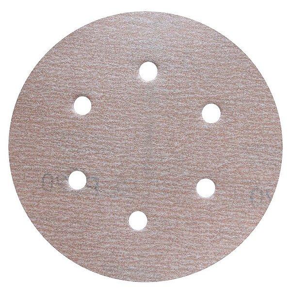 Caixa com 100 Disco de Lixa Pluma A275 Grão 220 152 x 0 x 6 mm