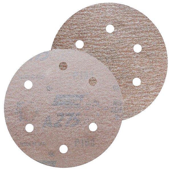 Caixa com 100 Disco de Lixa Pluma A275 Grão 280 152 x 0 x 6 mm
