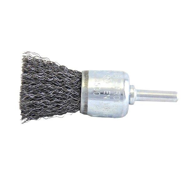 Caixa com 10 Escova de Aço Hobby Pincel Ondulada com Haste de 25 mm