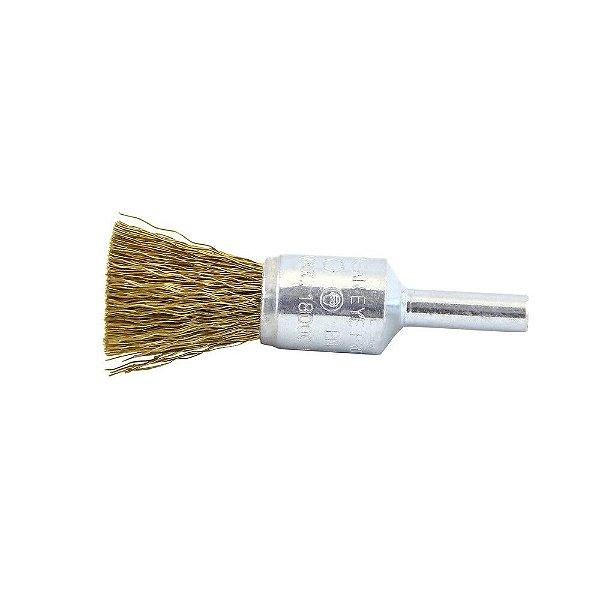 Escova de Aço Pincel Profissional com Haste de 25 mm 0,30 mm Caixa com 10