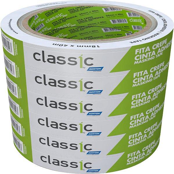 Caixa com 36 Fita Crepe Uso Geral Classic 18 x 40 m