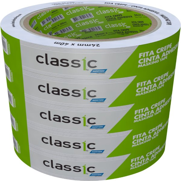 Fita Crepe Uso Geral Classic 24 x 40 m Caixa com 36