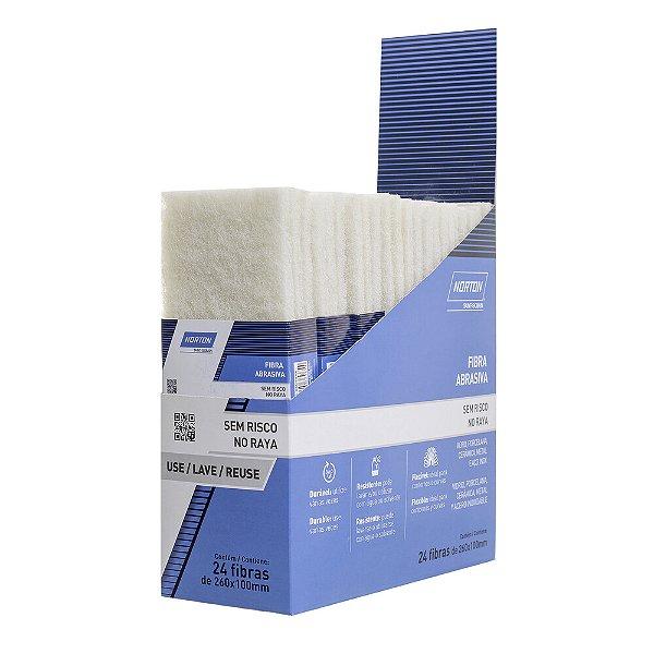 Caixa com 24 Folha Fibra Abrasiva Sem Risco Branca 240 x 130 mm