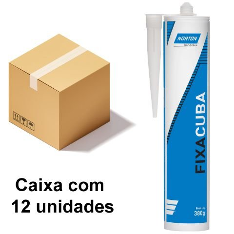 Caixa com 12 Selante Fixa Cuba Cinza 380 g