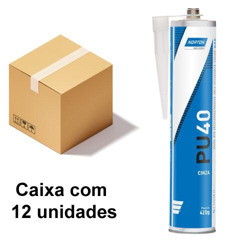 Caixa com 12 Selante PU 40 Cinza 420 g