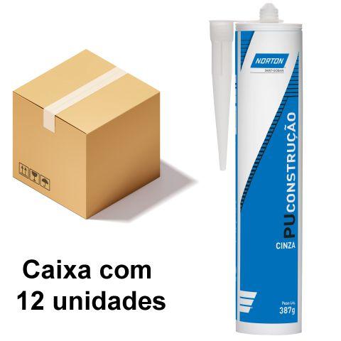 Caixa com 12 Selante PU Construção Cinza 387 g